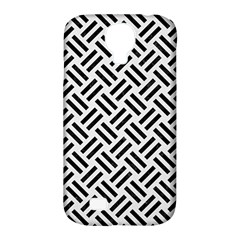Woven2 Black Marble & White Linen Samsung Galaxy S4 Classic Hardshell Case (pc+silicone)