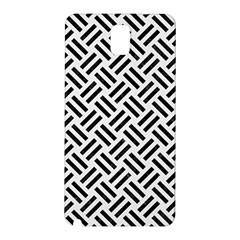 Woven2 Black Marble & White Linen Samsung Galaxy Note 3 N9005 Hardshell Back Case
