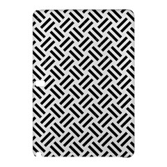 Woven2 Black Marble & White Linen Samsung Galaxy Tab Pro 10 1 Hardshell Case