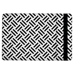 Woven2 Black Marble & White Linen Ipad Air Flip