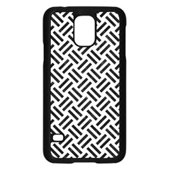Woven2 Black Marble & White Linen Samsung Galaxy S5 Case (black)