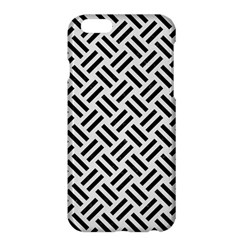 Woven2 Black Marble & White Linen Apple Iphone 6 Plus/6s Plus Hardshell Case