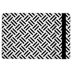 Woven2 Black Marble & White Linen Ipad Air 2 Flip