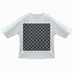Woven2 Black Marble & White Linen (r) Infant/toddler T Shirts