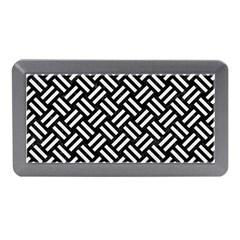 Woven2 Black Marble & White Linen (r) Memory Card Reader (mini)
