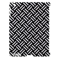 Woven2 Black Marble & White Linen (r) Apple Ipad 3/4 Hardshell Case (compatible With Smart Cover)