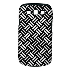 Woven2 Black Marble & White Linen (r) Samsung Galaxy S Iii Classic Hardshell Case (pc+silicone)