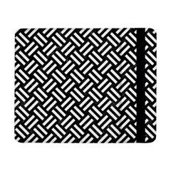 Woven2 Black Marble & White Linen (r) Samsung Galaxy Tab Pro 8 4  Flip Case