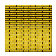 Brick1 Black Marble & Yellow Colored Pencil Tile Coasters