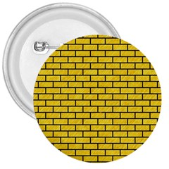 Brick1 Black Marble & Yellow Colored Pencil 3  Buttons