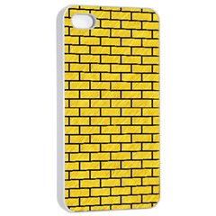 Brick1 Black Marble & Yellow Colored Pencil Apple Iphone 4/4s Seamless Case (white)