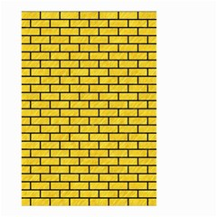 Brick1 Black Marble & Yellow Colored Pencil Small Garden Flag (two Sides)