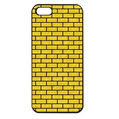 Brick1 Black Marble & Yellow Colored Pencil Apple Iphone 5 Seamless Case (black)