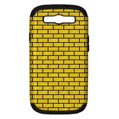 Brick1 Black Marble & Yellow Colored Pencil Samsung Galaxy S Iii Hardshell Case (pc+silicone)