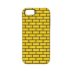 Brick1 Black Marble & Yellow Colored Pencil Apple Iphone 5 Classic Hardshell Case (pc+silicone)
