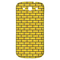 Brick1 Black Marble & Yellow Colored Pencil Samsung Galaxy S3 S Iii Classic Hardshell Back Case