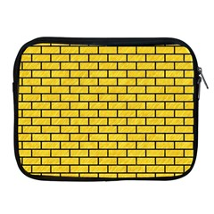 Brick1 Black Marble & Yellow Colored Pencil Apple Ipad 2/3/4 Zipper Cases