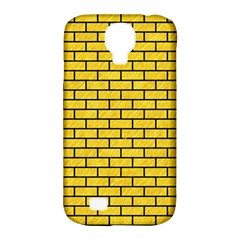 Brick1 Black Marble & Yellow Colored Pencil Samsung Galaxy S4 Classic Hardshell Case (pc+silicone)
