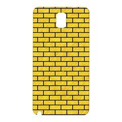 Brick1 Black Marble & Yellow Colored Pencil Samsung Galaxy Note 3 N9005 Hardshell Back Case