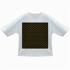 Brick1 Black Marble & Yellow Colored Pencil (r) Infant/toddler T Shirts
