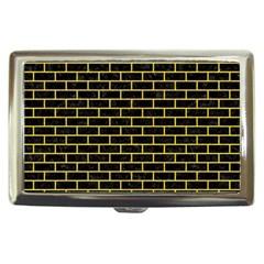 Brick1 Black Marble & Yellow Colored Pencil (r) Cigarette Money Cases