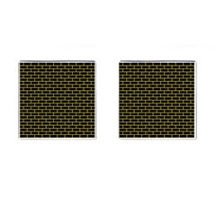 Brick1 Black Marble & Yellow Colored Pencil (r) Cufflinks (square)