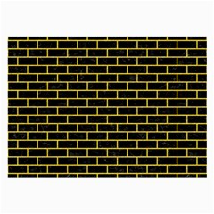 Brick1 Black Marble & Yellow Colored Pencil (r) Large Glasses Cloth