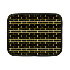 Brick1 Black Marble & Yellow Colored Pencil (r) Netbook Case (small)