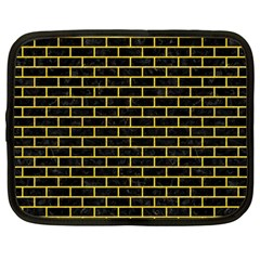 Brick1 Black Marble & Yellow Colored Pencil (r) Netbook Case (large)