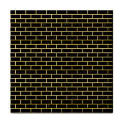 Brick1 Black Marble & Yellow Colored Pencil (r) Face Towel