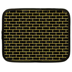 Brick1 Black Marble & Yellow Colored Pencil (r) Netbook Case (xl)