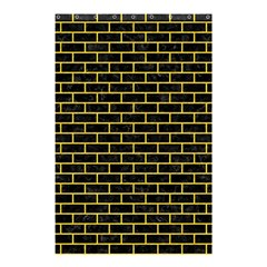Brick1 Black Marble & Yellow Colored Pencil (r) Shower Curtain 48  X 72  (small)