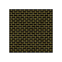 Brick1 Black Marble & Yellow Colored Pencil (r) Acrylic Tangram Puzzle (4  X 4 )