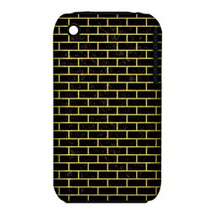 Brick1 Black Marble & Yellow Colored Pencil (r) Iphone 3s/3gs