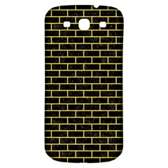 Brick1 Black Marble & Yellow Colored Pencil (r) Samsung Galaxy S3 S Iii Classic Hardshell Back Case