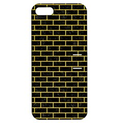 Brick1 Black Marble & Yellow Colored Pencil (r) Apple Iphone 5 Hardshell Case With Stand