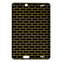Brick1 Black Marble & Yellow Colored Pencil (r) Amazon Kindle Fire Hd (2013) Hardshell Case