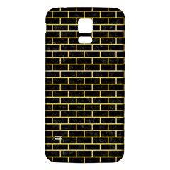 Brick1 Black Marble & Yellow Colored Pencil (r) Samsung Galaxy S5 Back Case (white)