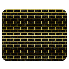 Brick1 Black Marble & Yellow Colored Pencil (r) Double Sided Flano Blanket (medium)