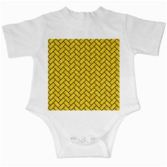 Brick2 Black Marble & Yellow Colored Pencil Infant Creepers