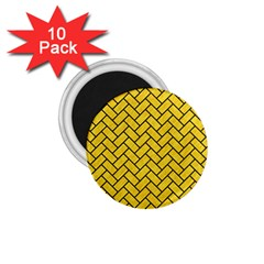 Brick2 Black Marble & Yellow Colored Pencil 1 75  Magnets (10 Pack)