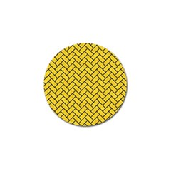 Brick2 Black Marble & Yellow Colored Pencil Golf Ball Marker (10 Pack)