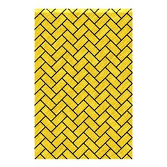 Brick2 Black Marble & Yellow Colored Pencil Shower Curtain 48  X 72  (small)