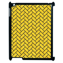 Brick2 Black Marble & Yellow Colored Pencil Apple Ipad 2 Case (black)