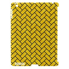 Brick2 Black Marble & Yellow Colored Pencil Apple Ipad 3/4 Hardshell Case (compatible With Smart Cover)