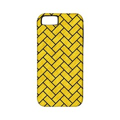 Brick2 Black Marble & Yellow Colored Pencil Apple Iphone 5 Classic Hardshell Case (pc+silicone)