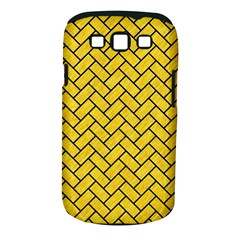 Brick2 Black Marble & Yellow Colored Pencil Samsung Galaxy S Iii Classic Hardshell Case (pc+silicone)