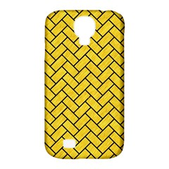 Brick2 Black Marble & Yellow Colored Pencil Samsung Galaxy S4 Classic Hardshell Case (pc+silicone)