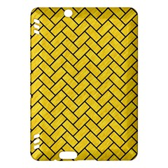 Brick2 Black Marble & Yellow Colored Pencil Kindle Fire Hdx Hardshell Case