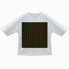 Brick2 Black Marble & Yellow Colored Pencil (r) Infant/toddler T Shirts